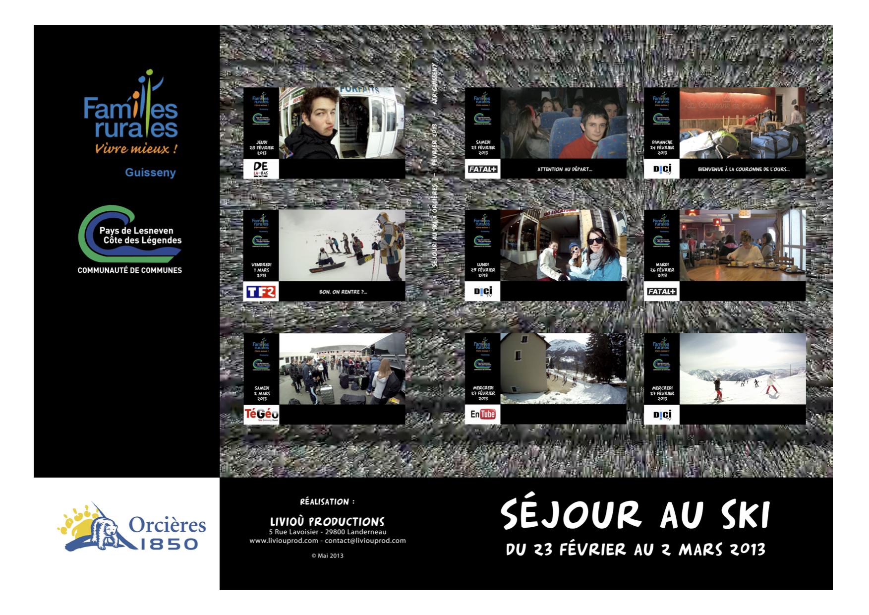 Jaquette DVD séjour Orcieres 2013 – AFR Guisseny