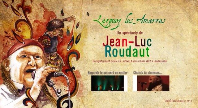 Menus du DVD du spectacle de Jean-Luc Roudaut «Larguez les amarres !»