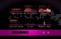 Menus du DVD du mariage de Juliette et Frédéric