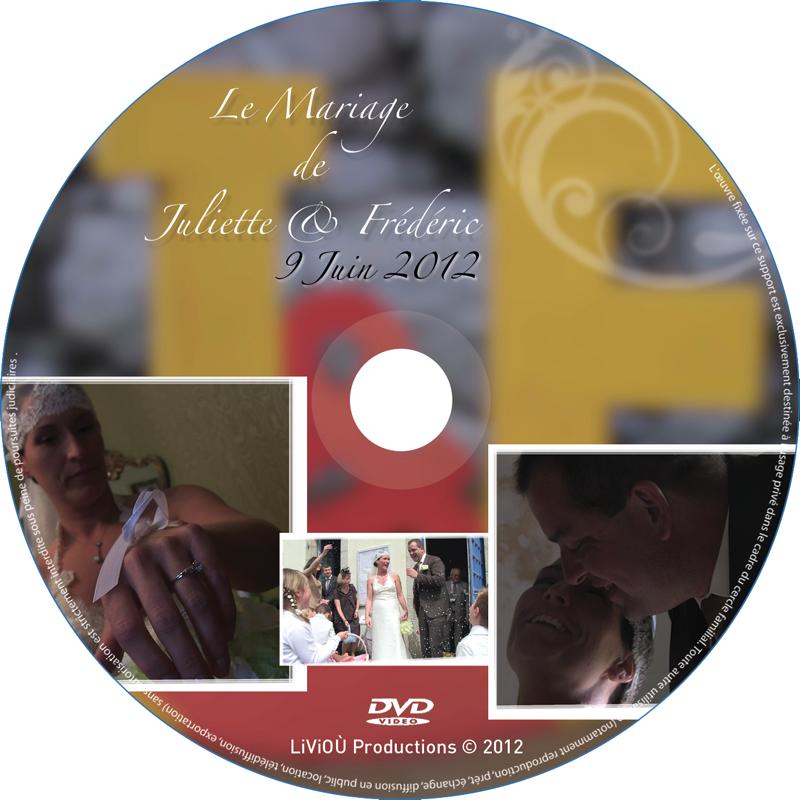 Rond de DVD du mariage de Juliette et Frédéric